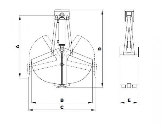 CLAMSHELL BUCKET BETWEEN TIES | Accessories | Railroad